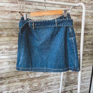 Vintage Y2K/90s Denim Skirt - Size 10